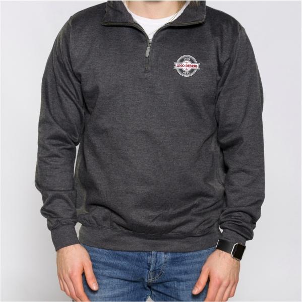 Milltex Adult Heavy Weight 1/4 Zip Sweat Jacket